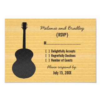 "Gray Country Guitar Response Card 3.5"" X 5"" Invitation Card"