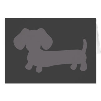 Gray Dachshund Masculine Note Card