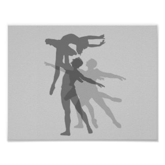 Gray Dance Classic Silhouettes Poster