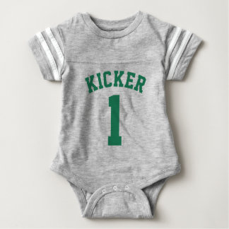 Gray & Dark Green Baby | Sports Jersey Design T Shirts