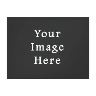 Gray Dark Grey Color Trend Blank Template Canvas Print