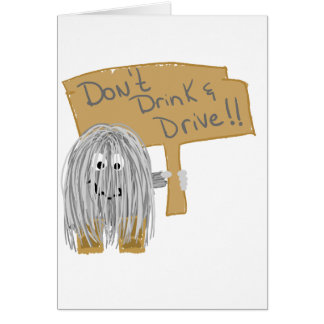Gray Dont Drink Drive Cards