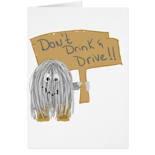 Gray Dont Drink & Drive Cards