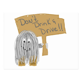 Gray Dont Drink & Drive Postcard