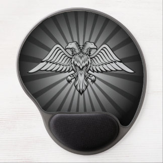 Gray eagle with two heads gel mouse pad
