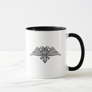 Gray eagle with two heads mug