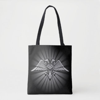 Gray eagle with two heads Two headed eagle, power Tote Bag