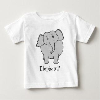 Gray Elephant Baby T-Shirt