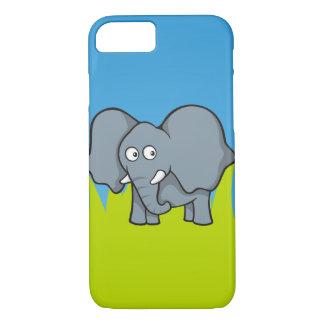 Gray elephant cartoon iPhone 7 case
