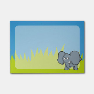Gray elephant cartoon post-it notes