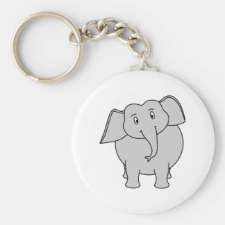 Gray Elephant. Key Ring