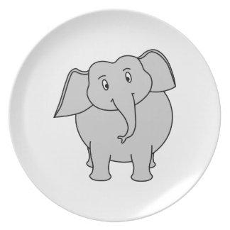 Gray Elephant. Plate