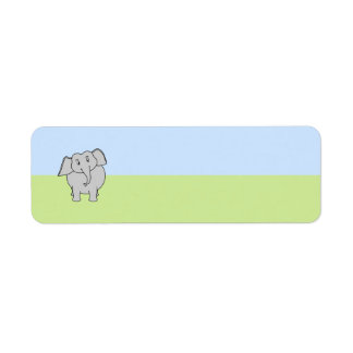 Gray Elephant Return Address Label