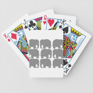 Gray Elephants Silhouette Bicycle Playing Cards