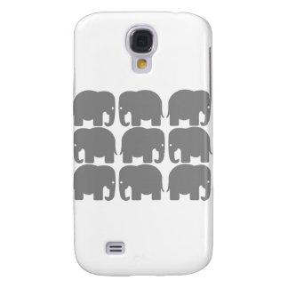 Gray Elephants Silhouette Galaxy S4 Case