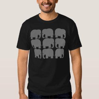 Gray Elephants Silhouette Shirts