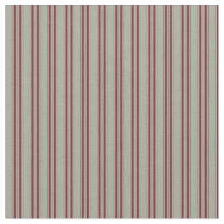 Gray Fabric With Maroon Strips