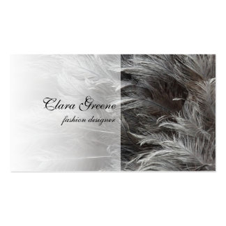Gray Feathers Business Card