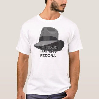 Gray Fedora wide ribbon T-Shirt