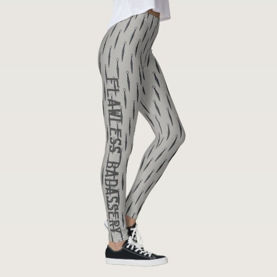 GRAY FLAWLESS BADASSERY LEGGINGS