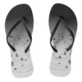 Gray Flip Flops, Mandala Flip Flops