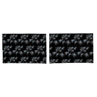 Gray Flower Strung Lights Pillowcase