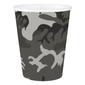 Gray Forest Camouflage. Camo your Paper Cup