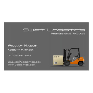 Gray Forklift Logisitcs Professional Business Card