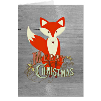Gray Fox Merry Christmas Cards