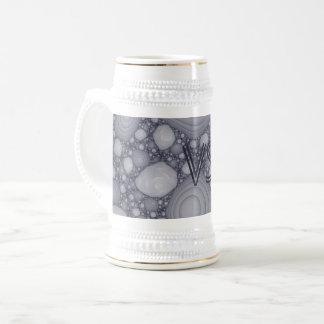 Gray fractal beer stein