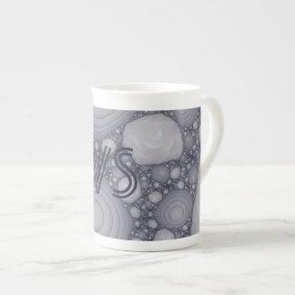 Gray fractal tea cup