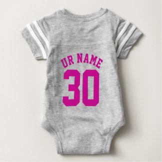 Gray & Fuchsia Baby | Sports Jersey Design T-shirts