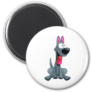 Gray Funny Dog Magnets