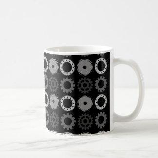 Gray Gears Basic White Mug