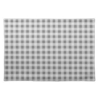 Gray Gingham Placemats