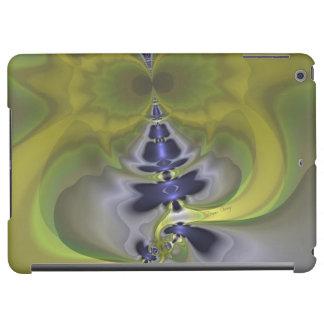 Gray Goblin in Green, Abstract Fun Spooky Imp iPad Air Covers
