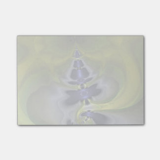Gray Goblin in Green, Abstract Fun Spooky Imp Post-it® Notes