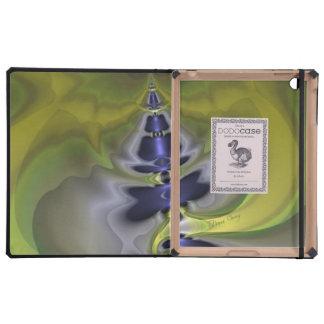 Gray Goblin in Green, Fun Spooky Imp iPad Folio Case