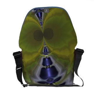 Gray Goblin in Green, Fun Spooky Imp Messenger Bag