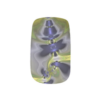 Gray Goblin in Green, Fun Spooky Imp Minx ® Nail Art