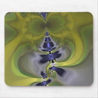 Gray Goblin in Green Fun Spooky Imp Mouse Pads