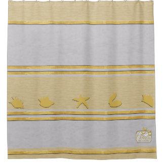Gray Gold Plain Shower Curtain