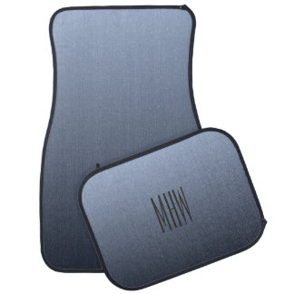 Gray Gradient custom monogram car floor mats
