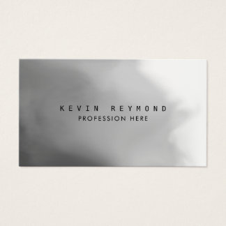gray gradient professional elegant business card