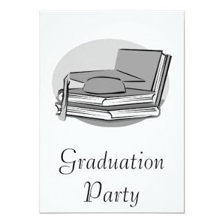 Gray Graduation 13 Cm X 18 Cm Invitation Card