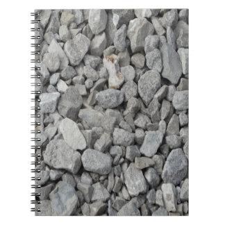 Gray Granite Pebbles Notebooks