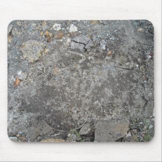 Gray Gravel Grunge Background Mousepad