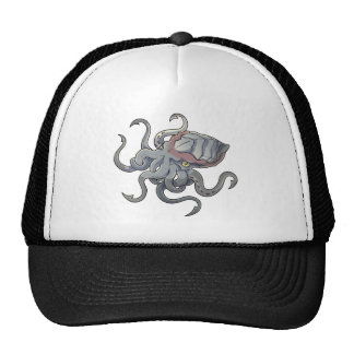 Gray/Gray Mythical Cartoon Kraken Monster Cap