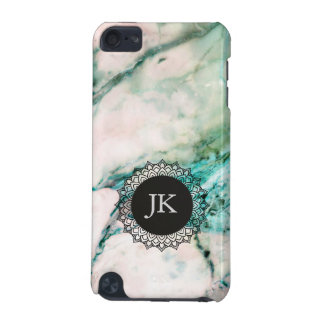 Gray & Green Marble GR4 Monogram iPod Touch 5G Case