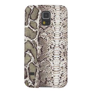 Gray Green Snake Skin Print Galaxy S5 Cases